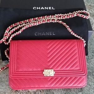Boy Chanel Wallet On Chain Clutch Quilted Lambskin